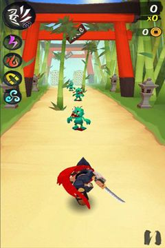 Screenshots of the Ninja Slash game for iPhone, iPad or iPod.