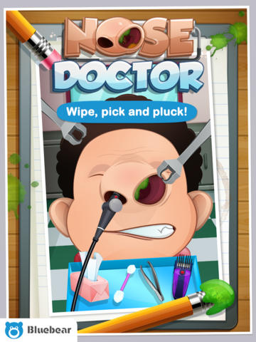 Screenshots of the Nose Doctor! game for iPhone, iPad or iPod.