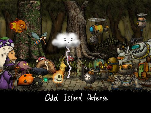 Download Odd island: Defense iPhone free game.