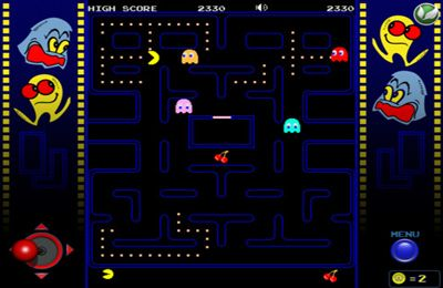 Screenshots of the Pac-man game for iPhone, iPad or iPod.