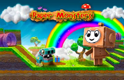 Screenshots of the Paper monsters game for iPhone, iPad or iPod.