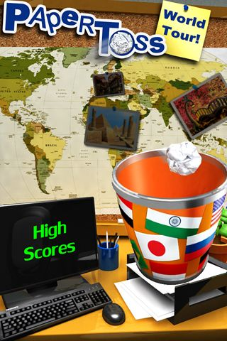 Download Paper toss: World tour iPhone free game.