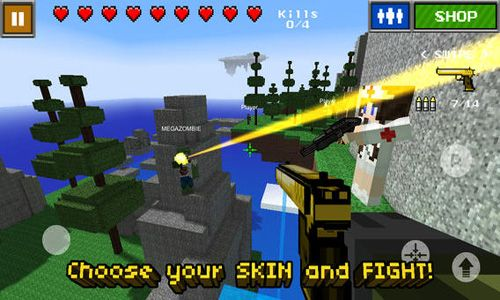 Screenshots of the Pixel Gun 3D game for iPhone, iPad or iPod.