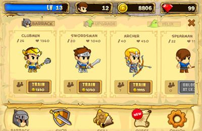 Screenshots of the Pocket Army game for iPhone, iPad or iPod.