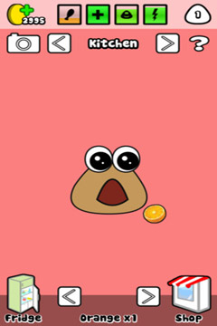 Screenshots of the Pou game for iPhone, iPad or iPod.