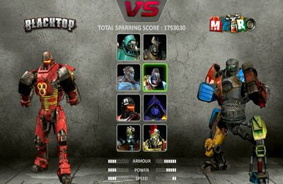 Screenshots of the Real Steel game for iPhone, iPad or iPod.