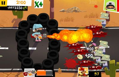 Screenshots of the Redneck Revenge: A Zombie Roadtrip game for iPhone, iPad or iPod.
