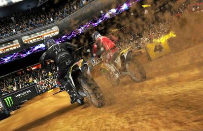 Screenshots of the Ricky Carmichael's Motorcross Marchup game for iPhone, iPad or iPod.