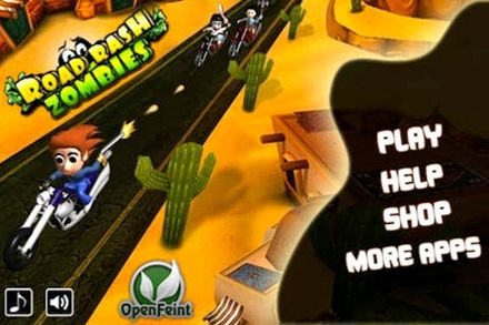 Download Road rash zombies iPhone free game.