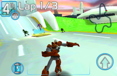 Screenshots of the Robot Race game for iPhone, iPad or iPod.