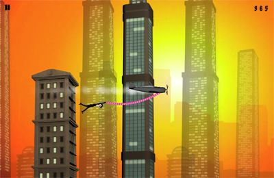 Screenshots of the Rope'n'Fly - From Dusk Till Dawn game for iPhone, iPad or iPod.