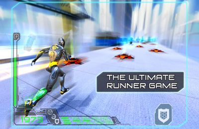 Screenshots of the RunBot game for iPhone, iPad or iPod.