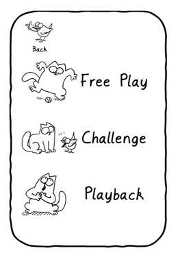 Screenshots of the Simon's Cat in 'Purrfect Pitch' game for iPhone, iPad or iPod.