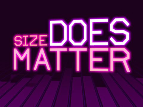 Download Size does matter iPhone free game.