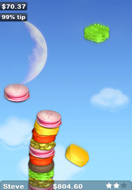 Screenshots of the Sky Burger game for iPhone, iPad or iPod.