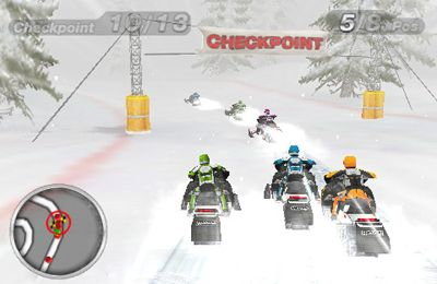 Snow Moto Racing - iPhone game screenshots. Gameplay Snow Moto Racing.