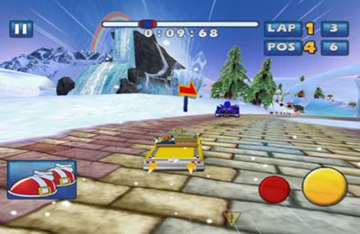 Screenshots of the Sonic & SEGA All-Stars Racing game for iPhone, iPad or iPod.