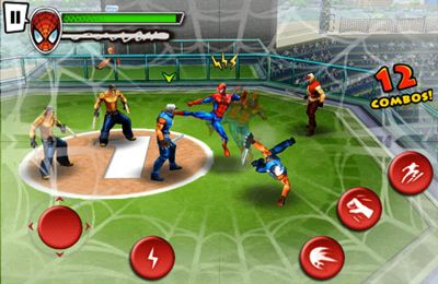 Screenshots of the Spider-Man Total Mayhem game for iPhone, iPad or iPod.