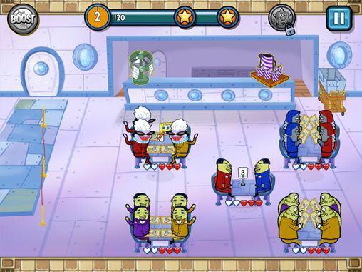 Screenshots of the Sponge Bob: Diner dash game for iPhone, iPad or iPod.