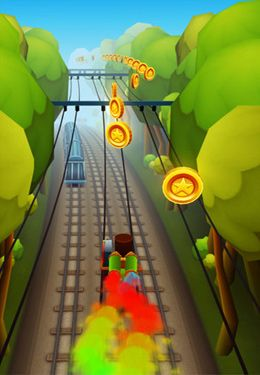 Screenshots of the Subway Surfers game for iPhone, iPad or iPod.