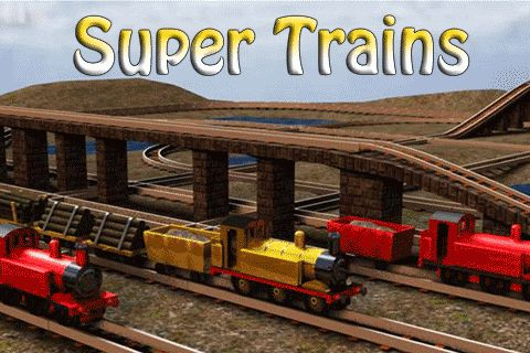 Screenshots of the Super trains game for iPhone, iPad or iPod.