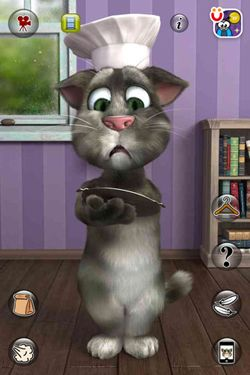 Screenshots of the Talking Tom Cat 2 game for iPhone, iPad or iPod.