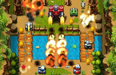 Screenshots of the Tank Wars 2012 game for iPhone, iPad or iPod.