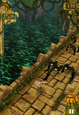 Screenshots of the Temple Run game for iPhone, iPad or iPod.