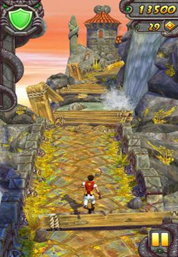 Screenshots of the Temple Run 2 game for iPhone, iPad or iPod.