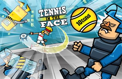 Screenshots of the Tennis in the Face! game for iPhone, iPad or iPod.