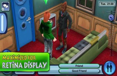 Screenshots of the The Sims 3 game for iPhone, iPad or iPod.