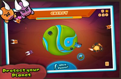 Screenshots of the Tiny Planet game for iPhone, iPad or iPod.