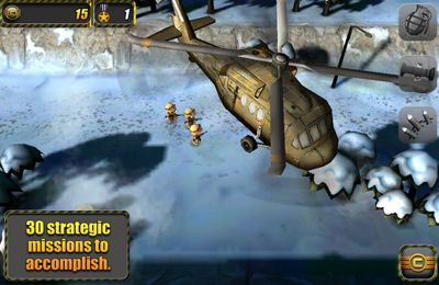 Screenshots of the Tiny Troopers game for iPhone, iPad or iPod.