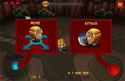 Screenshots of the Tiny Legends: Crazy Knight game for iPhone, iPad or iPod.