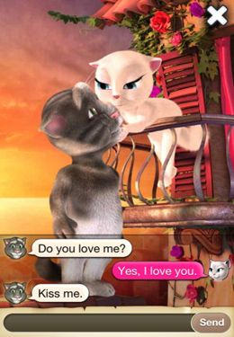 Screenshots of the Tom Loves Angela game for iPhone, iPad or iPod.