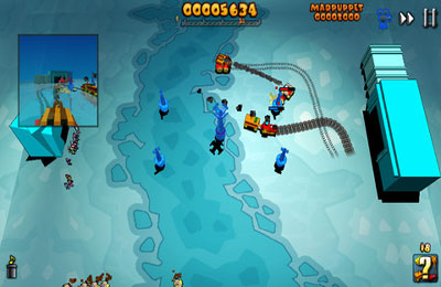 Screenshots of the Train Defense game for iPhone, iPad or iPod.