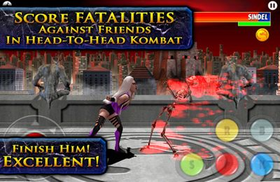 Screenshots of the Ultimate Mortal Kombat 3 game for iPhone, iPad or iPod.