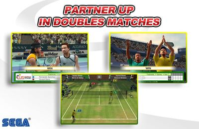 Screenshots of the Virtua Tennis Challenge game for iPhone, iPad or iPod.