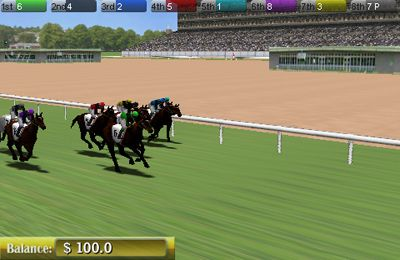 Screenshots of the Virtual Horse Racing 3D game for iPhone, iPad or iPod.