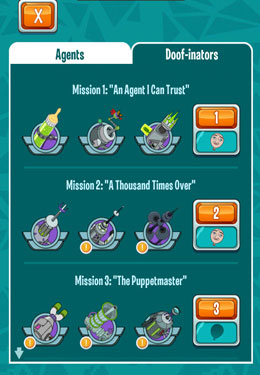 Screenshots of the Where's My Perry? game for iPhone, iPad or iPod.