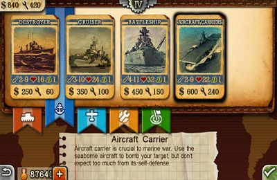 Screenshots of the World Conqueror 2 game for iPhone, iPad or iPod.