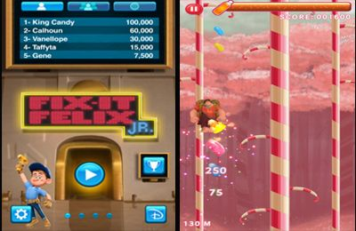 Screenshots of the Wreck it Ralph game for iPhone, iPad or iPod.
