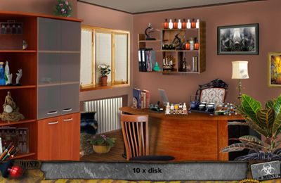Screenshots of the Zombie Attack – Hidden Objects game for iPhone, iPad or iPod.