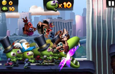 Screenshots of the Zombie Carnaval game for iPhone, iPad or iPod.