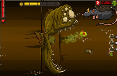 Screenshots of the Zombie Fish Tank game for iPhone, iPad or iPod.