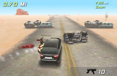 Screenshots of the Zombie highway game for iPhone, iPad or iPod.