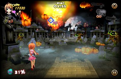 Screenshots of the Zombie Panic in Wonderland Plus game for iPhone, iPad or iPod.