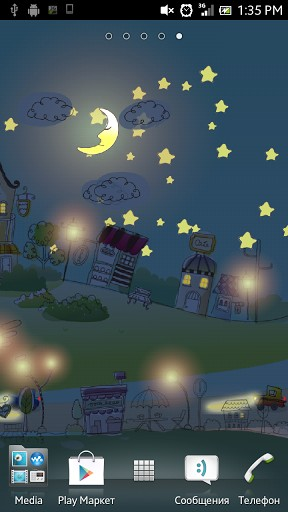 Screenshots of the Hand-drawn city for Android tablet, phone.