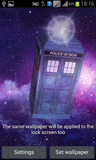 Screenshots of the Tardis 3D for Android tablet, phone.