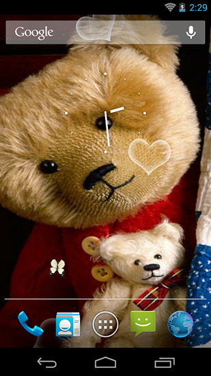 Screenshots of the Teddy bear HD for Android tablet, phone.
